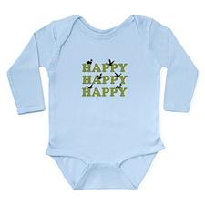 Green Digital Camo Happy Happy Happy Onesie Romper Suit