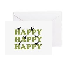 Green Digital Camo Happy Happy Happy Greeting Card