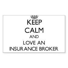 Keep Calm and Love an Insurance Broker Decal