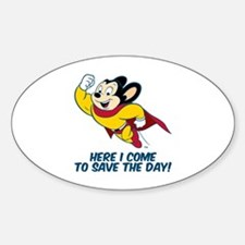 Mighty Mouse Here I Come Bumper Stickers