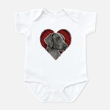Weimeraner Valentine Infant Bodysuit