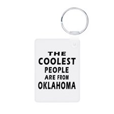 The Coolest People Are From Oklahoma Keychains