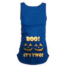 Boo! Its Two! Twin Jack OLantern Maternity Tank To