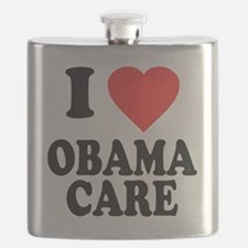I Love Obamacare Flask