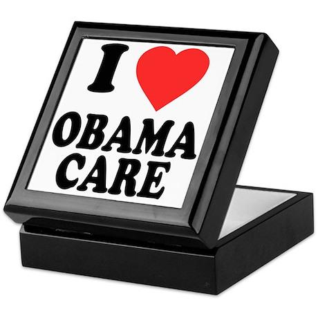 I Love Obamacare Keepsake Box