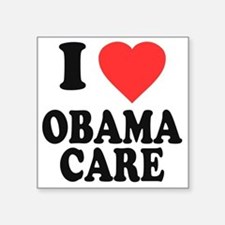 "I Love Obamacare Square Sticker 3"" x 3"""