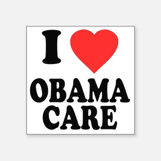 "I Love Obamacare Square Sticker 3"" x 3"""