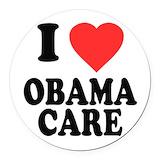 Obamacare Round Car Magnets