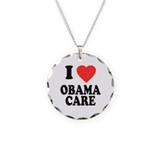 I Love Obamacare Necklace Circle Charm