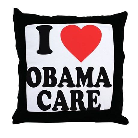 I Love Obamacare Throw Pillow