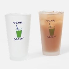 Team Green Drinking Glass