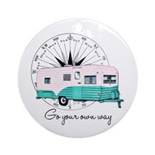 Go Your Own Way Ornament (Round)
