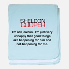 Sheldon Cooper's Jealousy Quote baby blanket