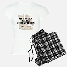 Army Aunt Nephew wears DCB Pajamas