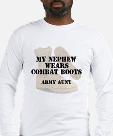 Army Aunt Nephew wears DCB Long Sleeve T-Shirt