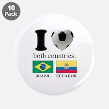 """BRAZIL-ECUADOR 3.5"""" Button (10 pack)"""