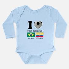 BRAZIL-ECUADOR Long Sleeve Infant Bodysuit