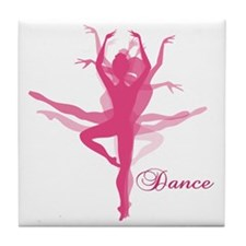 Ballet Dancer Tile Coaster