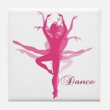Ballet Dancer Tile Coaster