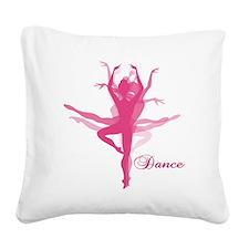 Ballet Dancer Square Canvas Pillow