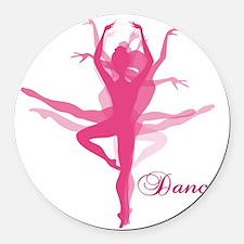 Ballet Dancer Round Car Magnet