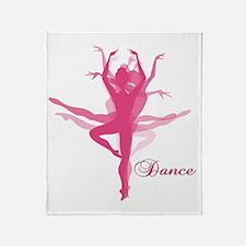Ballet Dancer Throw Blanket