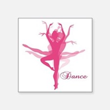 "Ballet Dancer Square Sticker 3"" x 3"""