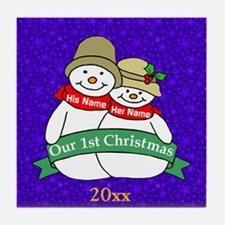 Our 1st Christmas Tile Coaster