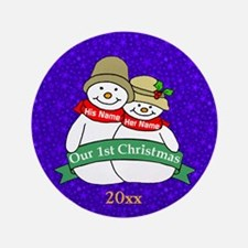 """Our 1st Christmas 3.5"""" Button"""