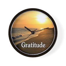 Gratitude for a Beautiful Life Wall Clock