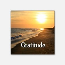 """Gratitude for a Beautiful L Square Sticker 3"""" x 3"""""""