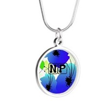 Nurse Practitioner Silver Round Necklace