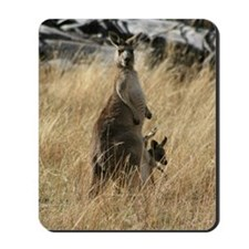 Joey to Mama Kangaroo - It's Crowded in  Mousepad