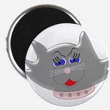 Head Of Female Cat Magnets