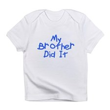 Twisted Imp My Brother Did It Blue Infant T-Shirt