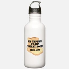Army Aunt Nephew Desert Combat Boots Water Bottle