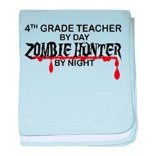 Zombie Hunter - 4th Grade baby blanket