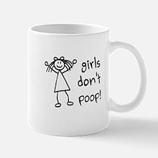 Girls Dont Poop Mugs