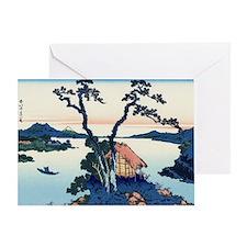 Lake Suwa by Hokusai Greeting Card