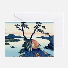 Lake Suwa by Hokusai Greeting Card
