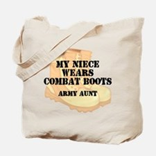 Army Aunt Niece Desert Combat Boots Tote Bag