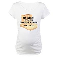 Army Aunt Niece Desert Combat Boots Shirt