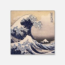 """The Great Wave by Hokusai Square Sticker 3"""" x 3"""""""