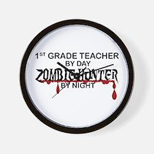 Zombie Hunter - 1st Grade Wall Clock
