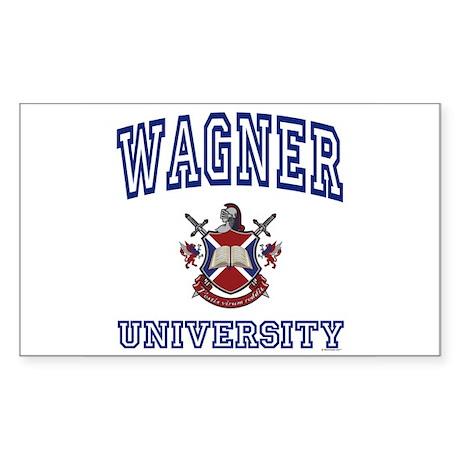 WAGNER University Rectangle Sticker