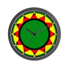 Jah King Rasta Time Wall Clock