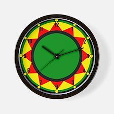 Jah King Rasta Time Wall Clock