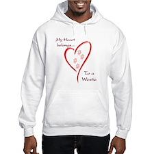 Westie Heart Belongs Hoodie