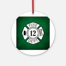 FIRE DEPT Ornament (Round)