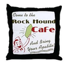 Rockhound Cafe Throw Pillow